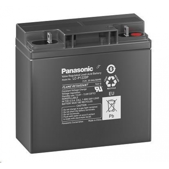 Baterie - Panasonic LC-P1220P (12V/20Ah - M5, životnost 10-12let)