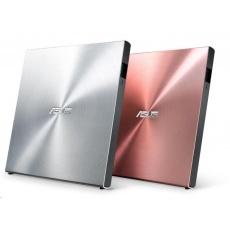 ASUS DVD SDRW-08U5S-U/SIL/G/AS, External Slim DVD-RW, silver, USB + Cyberlink Power2Go 8
