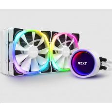 NZXT vodní chladič Kraken X53 RGB / 2x 120mm fan / LGA 2066/2011(-3)/1366/1156/1155/1151/1150/AM4 / bílá