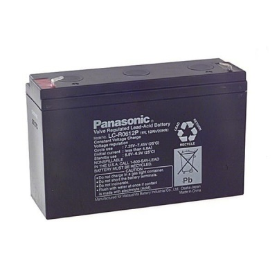 Baterie - Panasonic LC-R0612P (6V/12Ah - Faston 187), životnost 6-9let