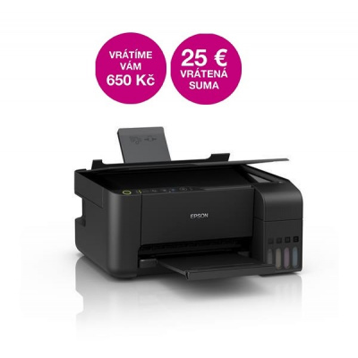 EPSON tiskárna ink L3110, 3in1, A4, 1440x5760 dpi, 33 ppm, 600x1200 scan dpi, CIS, USB
