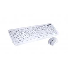 """BAZAR C-TECH klávesnice s myší WLKMC-01, USB, bílá, wireless, CZ+SK """"REPAIRED"""""""