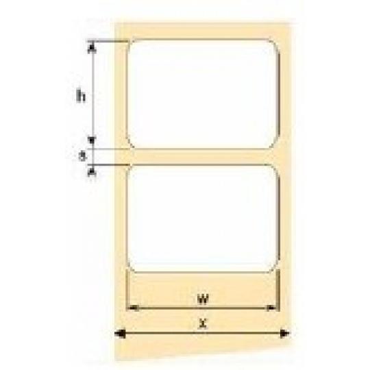 OEM samolepící etikety 100mm x 150mm, bílý papír, cena za 500 ks
