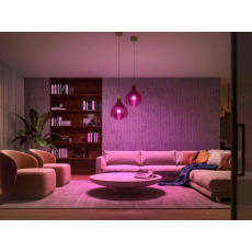 Philips Hue White and Color Ambiance 9W 1100 E27 malý promo starter kit