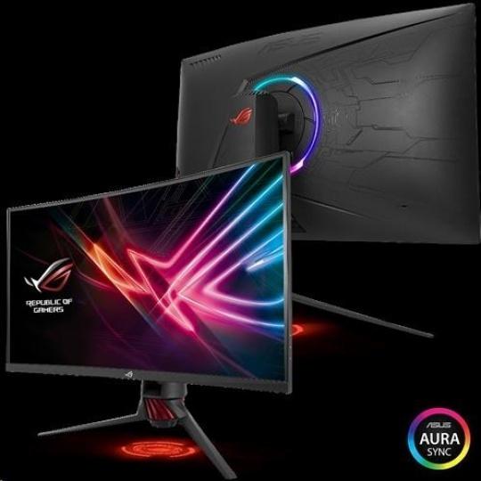 "ASUS MT 31.5"" XG32VQR 2560x1440 ROG STRIX Curved  VA 144Hz 125% sRGB DP HDMI DisplayHDR 400 FreeSync 2 HDR AuraSync"