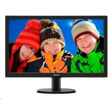 "Philips MT LED 21,5""  223V5LSB 1920x1080, 250cd/m, 5ms, 10mil:1, D-Sub, DVI-D"