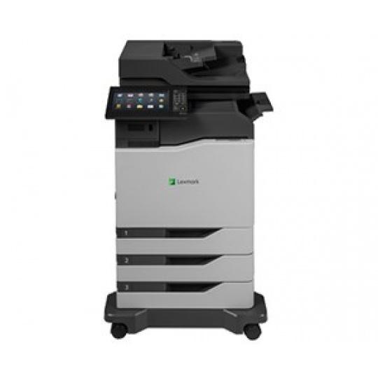 LEXMARK tiskárna CX825dtfe A4 COLOR LASER, 52ppm, 2048MB USB, LAN, duplex, dotykový LCD, 2x zásobník papíru, sešívačka