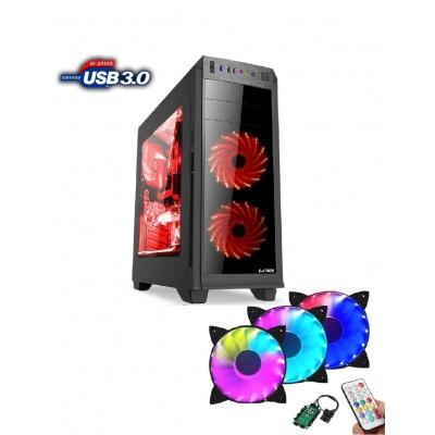 1stCOOL skříň GAMER 2, Full Tower, AU, USB 3.0 + Set FAN2, bez zdroje, Black