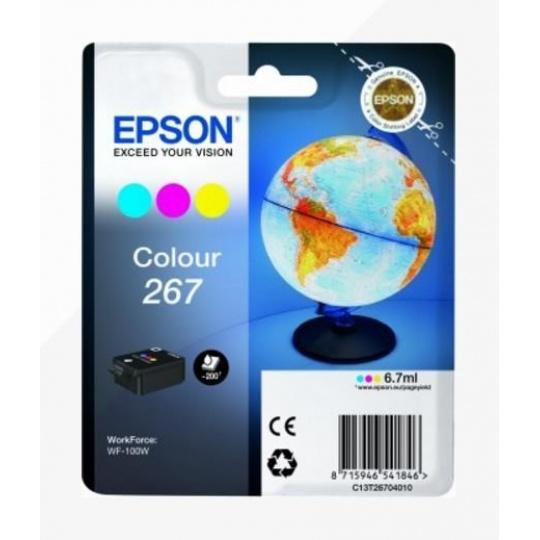 "EPSON ink bar Singlepack ""Globus"" Colour 267 ink cartridge-pro WF-100 (6,7 ml)"