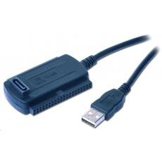 "GEMBIRD Kabel adaptér USB 2.0 - IDE 2,5""/3,5"" + SATA (redukce + napájecí zdroj)"