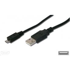 PREMIUMCORD Kabel USB 2.0 A-Micro B propojovací 0,2m (černý)
