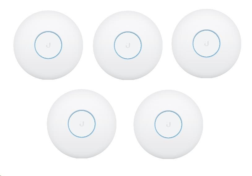 UBNT UniFi AP AC HD, 5-PACK, bez PoE! [2.4GHz(800Mbps)+5GHz(1733Mbps),4x4 MU-MIMO, 802.11a/b/g/n/ac/ac-wave2]