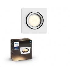 PHILIPS MILLISKIN Zapuštěné bodové svítidlo, čtvercové, Hue White ambiance, 230V, 1x5.5W GU10, Bílá, rozšíření