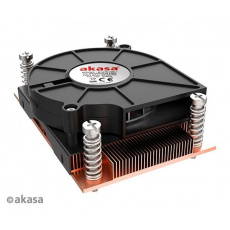 AKASA chladič AM4-Low profile CPU cooler with Copper heatsink