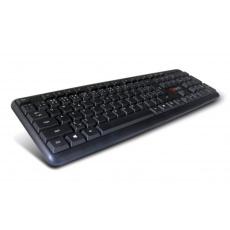 C-TECH klávesnice KB-102 PS/2, slim, black, CZ/SK