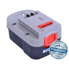 AVACOM baterie pro BLACK & DECKER A144, A1714 Ni-MH 14,4V 3000mAh, články PANASONIC