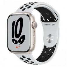 Apple Watch Nike Series 7, 45mm Star./Plat./Black Nike SportBand