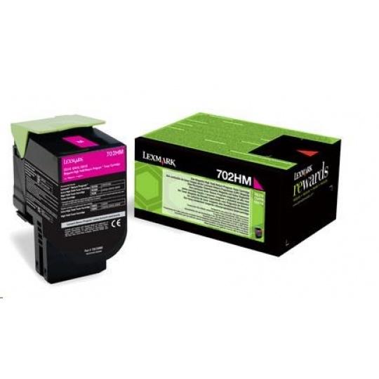 LEXMARK Magenta toner 702HM pro CS310/410/510 z programu Lexmark Return (3 000 stran)
