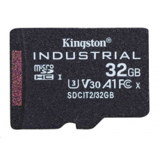 Kingston 32GB microSDHC Industrial C10 A1 pSLC Card Single Pack