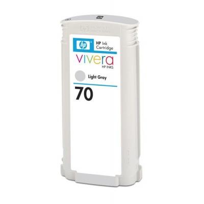 HP 70 Light Grey DJ Ink Cart, 130 ml, C9451A