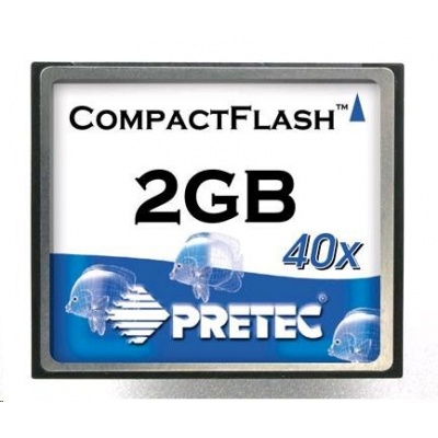 PRETEC CompactFlash Card 2GB Type I Industrial Series, SLC chips