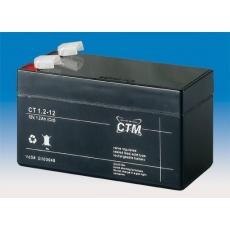 Baterie - CTM CT 12-1,2 (12V/1,2Ah - Faston 187), životnost 5let