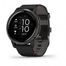Garmin GPS sportovní hodinky Slate/Black Leather Band