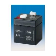 Baterie - CTM CT 6-1 (6V/1Ah - Faston 187), životnost 5let